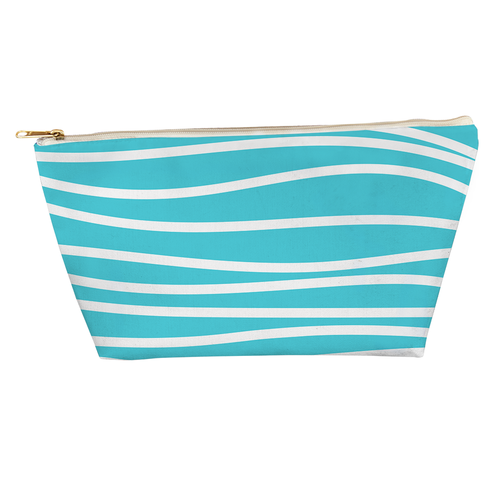 Seaside Stripes T Bottom Accessory Pouch - kathryncole