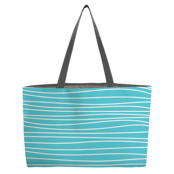 Seaside Stripes Beach Bag - kathryncole