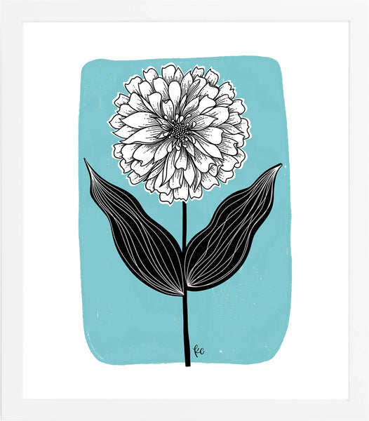 Zinnia Flower Art Print