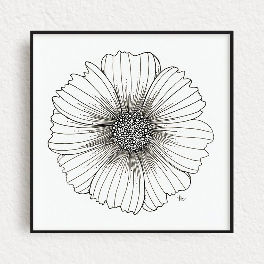 Cosmo Flower Original Art, no. 5
