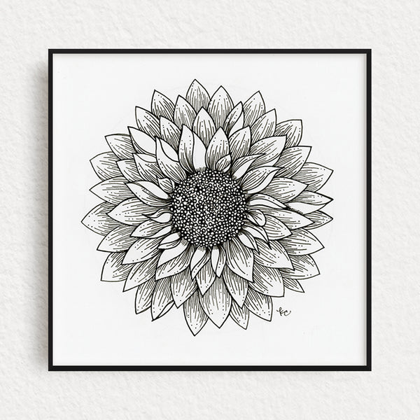 Dahlia Original Art, no. 4