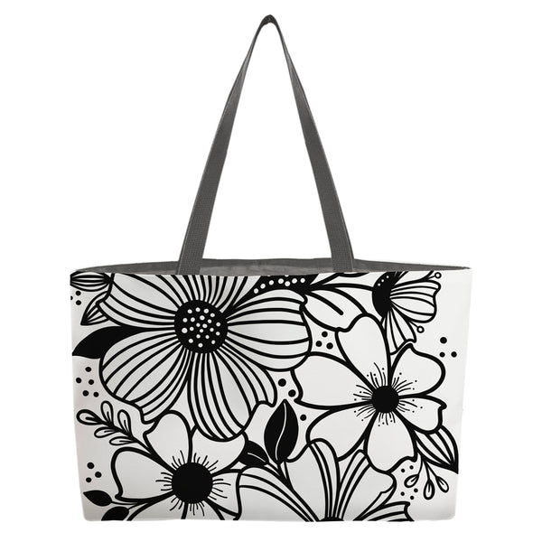 Dancing Florals Beach Bag - kathryncole