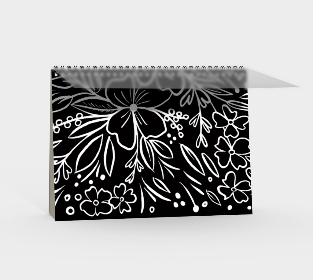 Chalk Florals Spiral Notebook