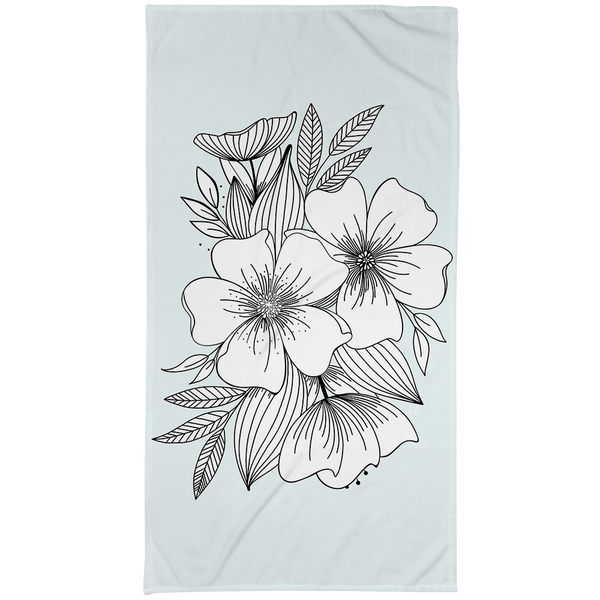 Floral Spray Large Beach Towel