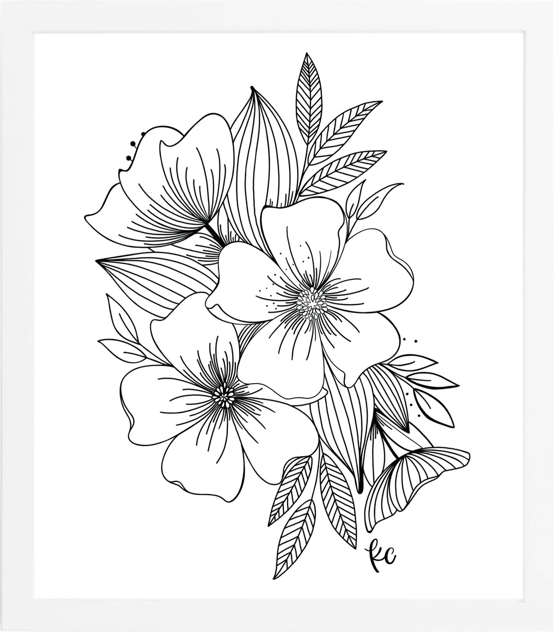 Floral Spray Art Print