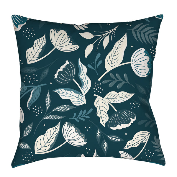Flower Seeker in blues Pillow