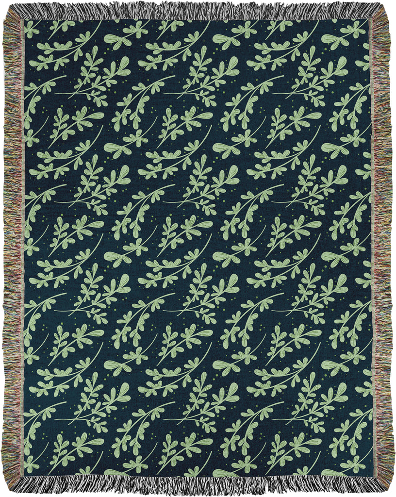 Greenery Woven Throw in Green (limited edition)