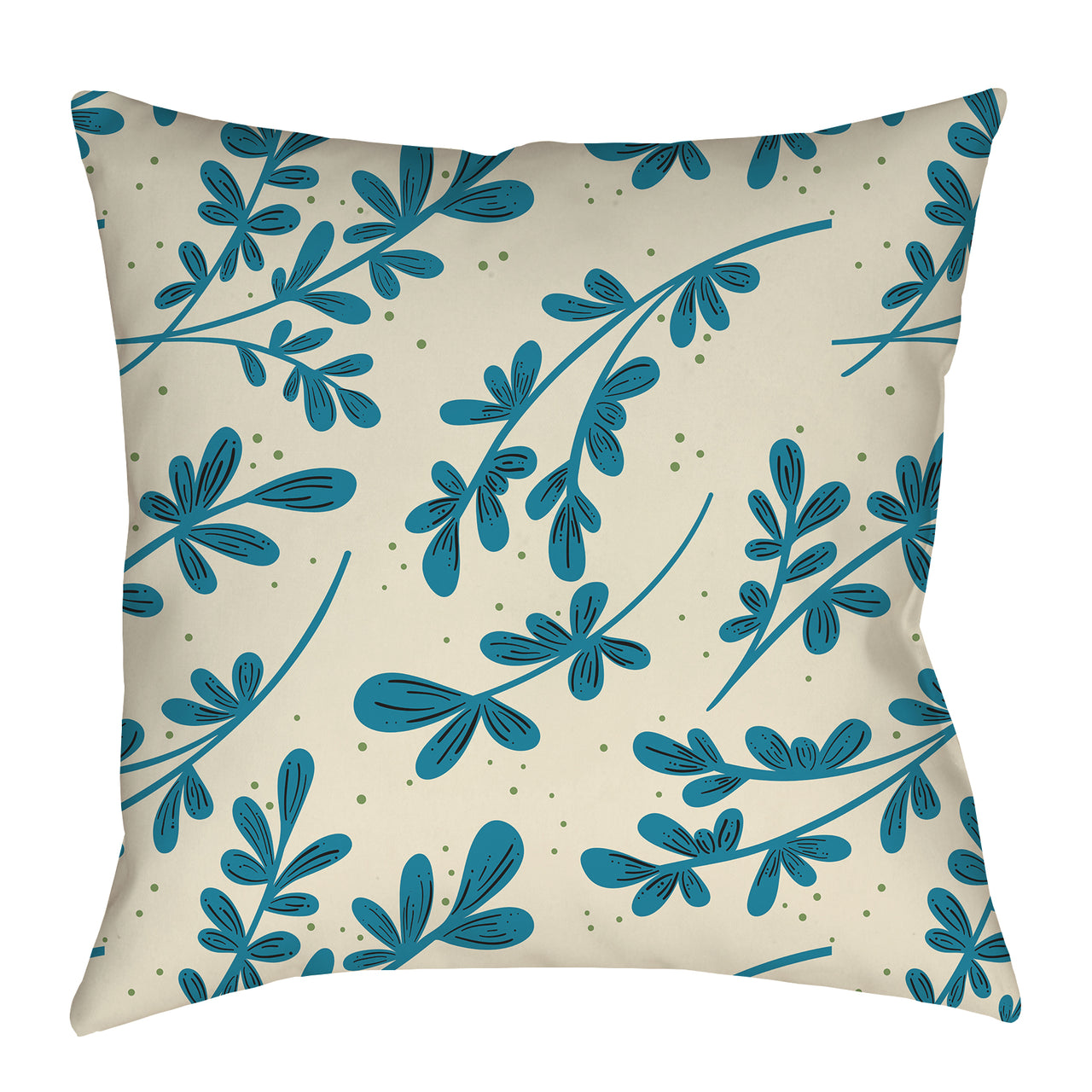 Greenery on cream Pattern Pillow