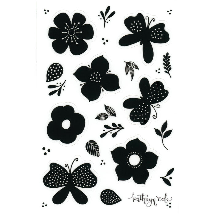 Butterfly + Bloom Sticker Sheet - kathryncole