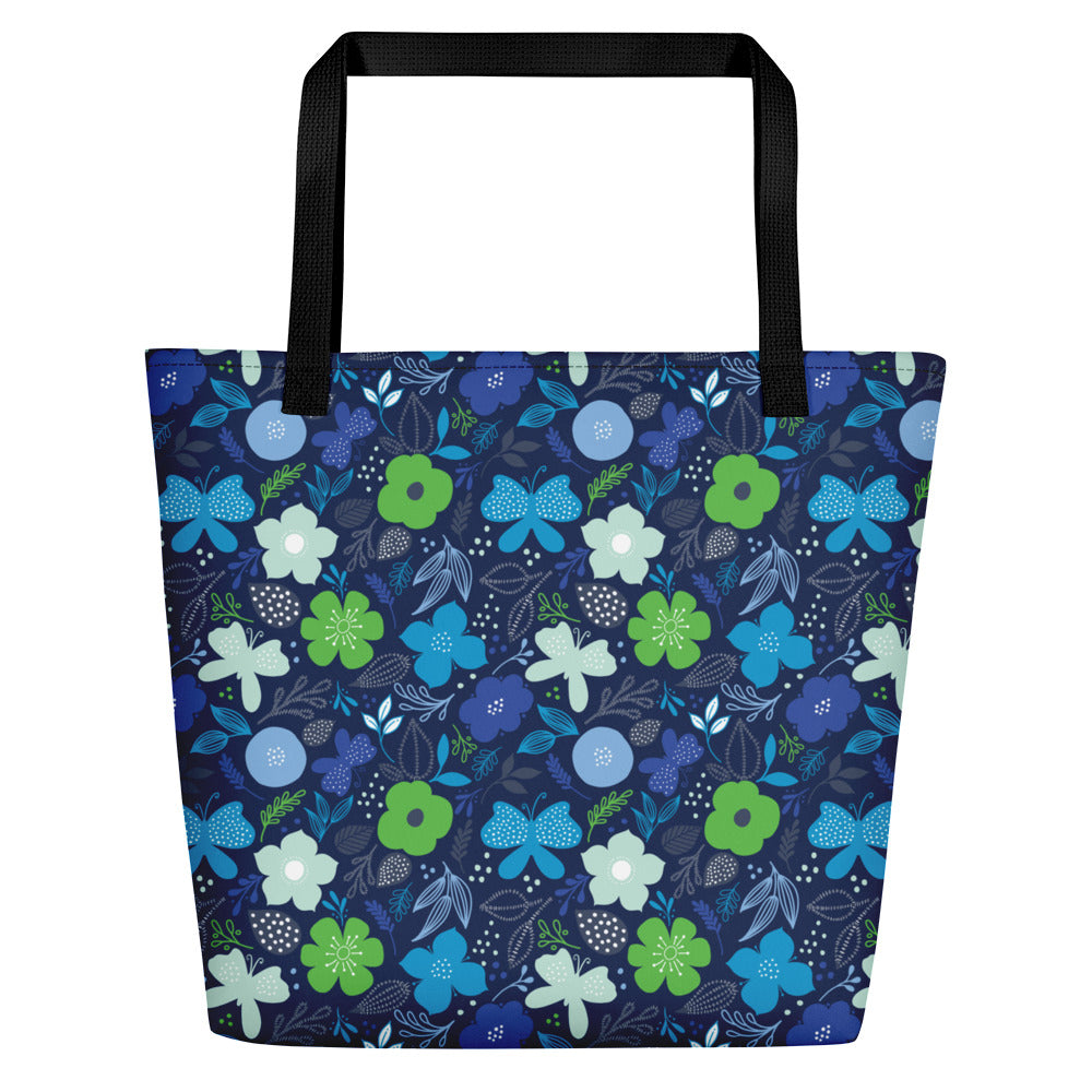 Butterfly + Bloom Beach Bag - kathryncole
