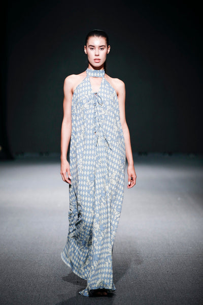 Giacomo Long Halter Dress - Shantall Lacayo