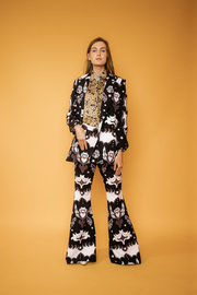 Abstract Print Irregular Blazer - Shantall Lacayo
