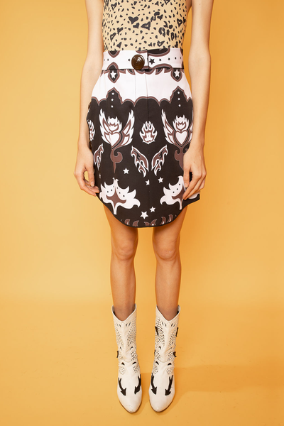 Abstract Print Irregular Skirt - Shantall Lacayo