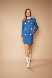 Embroidery Blazer Dress - Shantall Lacayo