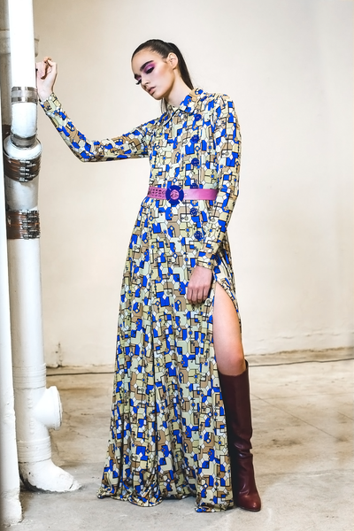 Cubist Long Sleeve Maxi Dress - Shantall Lacayo
