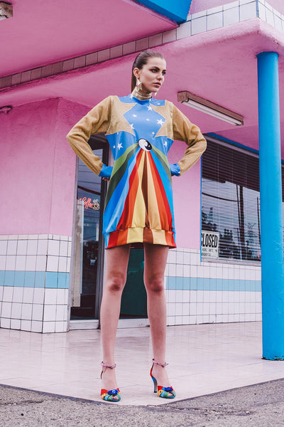 Rainbow Sweater Dress - Shantall Lacayo