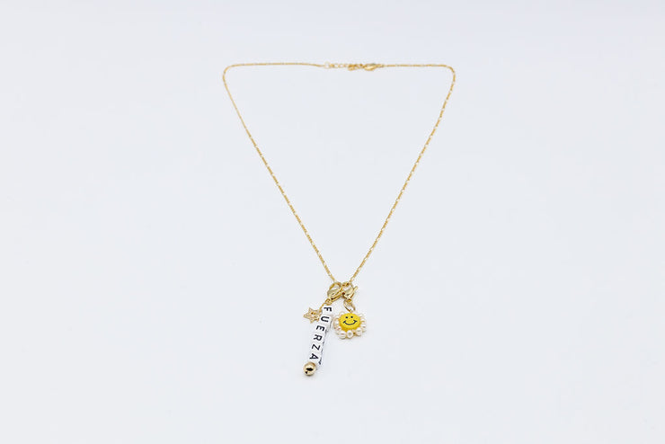 Charms gold plated chain - Shantall Lacayo