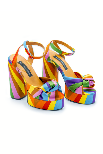 Rainbow Platforms Sandals - Shantall Lacayo