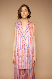 Heart Lines Print Vest Dress - Shantall Lacayo