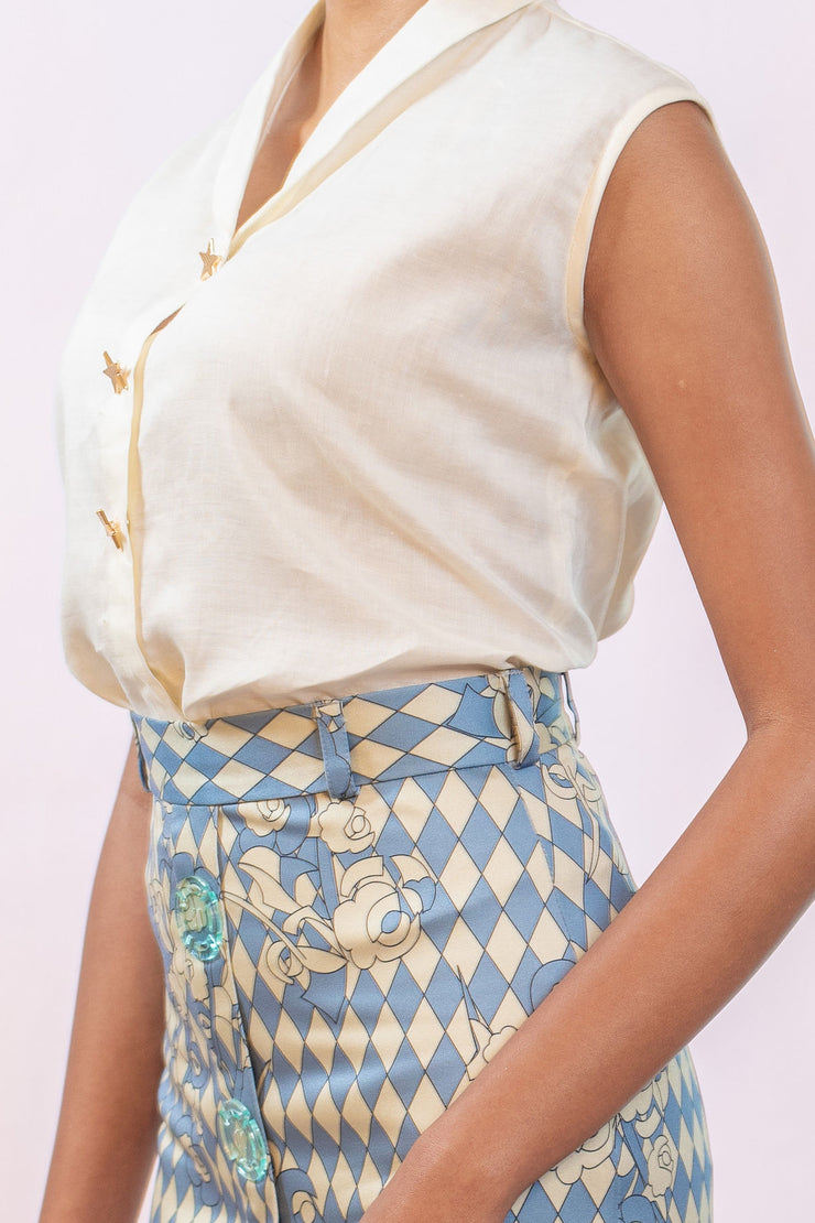 Giacomo Satin Pencil Skirt - Shantall Lacayo