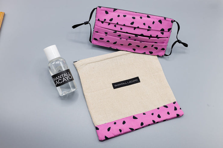 "Pink animal print ""care kit"""