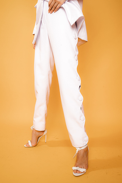 Irregular High Rise Pants - Shantall Lacayo