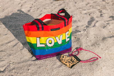 Rainbow medium tote bag