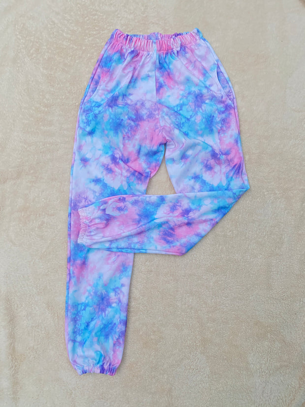SWEATPANTS TIE DYE CLOUD PINK TALLA XS