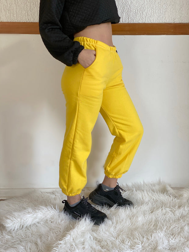 SWEATPANTS YELLOW TALLA M