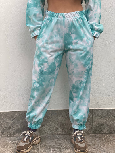 SWEATPANTS TIE DYE MINT TALLA M