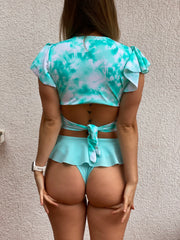 TOP BUTTERFLY RIBBONS TIE DYE MINT + BOTTOMS VOLADOS MINT