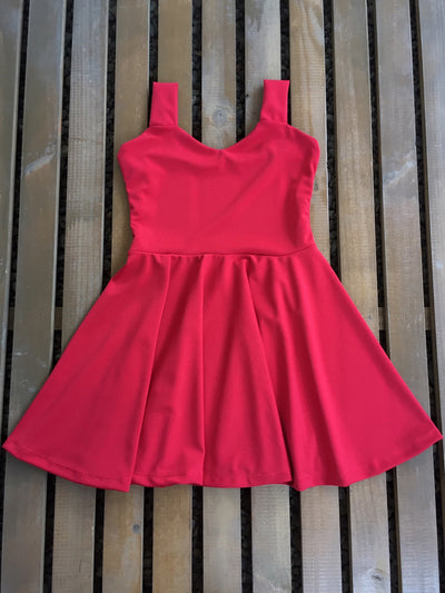 VESTIDO SKATER CORAZON COLOR A ELECCION