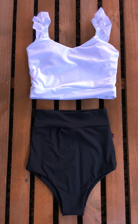 CROP TOP PRETINA BRETELES LIPA + BOTTOMS BASIC  A ELECCION
