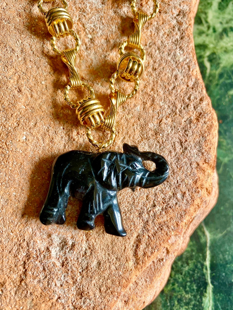 Elephant in the room long necklace