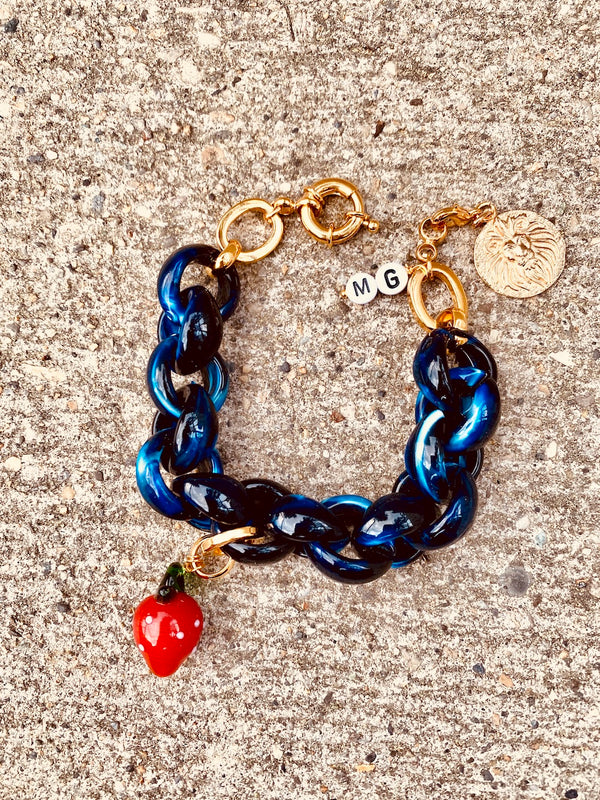 The Deep Blue Olympus bracelet - Maeva Gaultier
