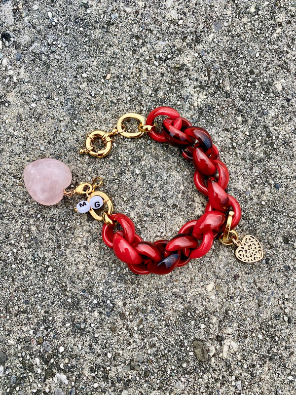 The Red Olympus bracelet - Maeva Gaultier