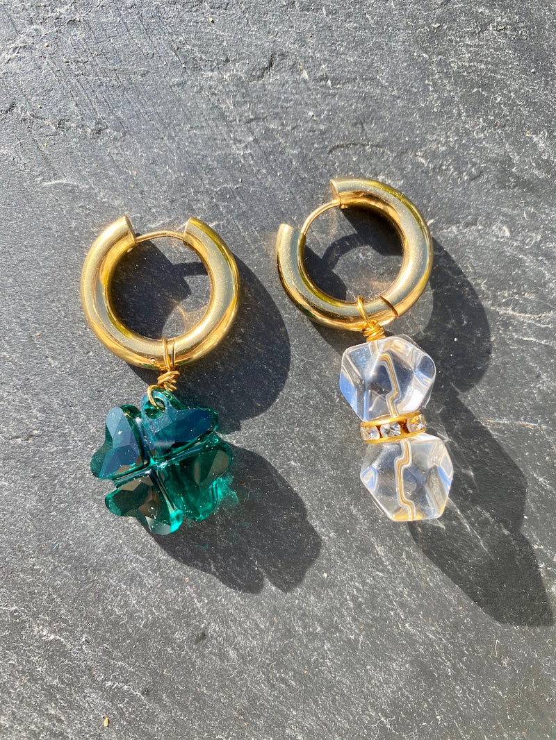Maëva Gaultier Crystal Clear earrings - Clover version