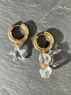 Crystal Clear earrings - Maeva Gaultier