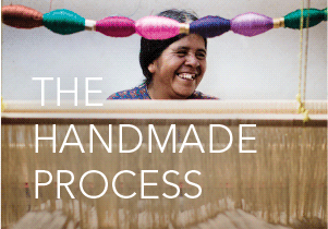 The handmade process for making our bags with traditional mayan weaving