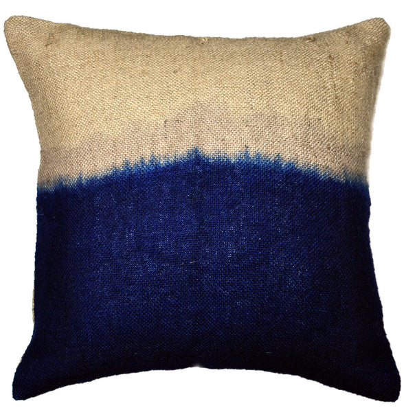 Ixil Indigo Jute Rope Dyed Pillow