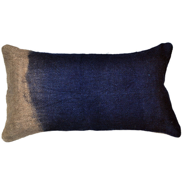 Ixil Indigo Small Jute Rope Dyed Pillow