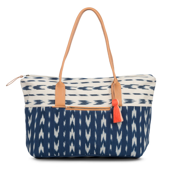 Hand woven Dolores Weekender - Leather Bottom - Ethical Shopping at Mercado Global