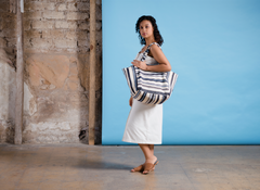 Hand woven Blanca Tote - Ethical Shopping at Mercado Global