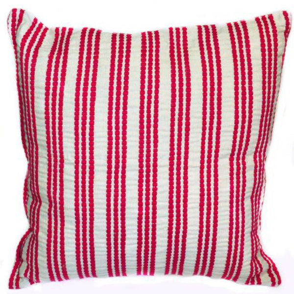 Hand woven Comalapa Triple Stripe Brocade Medium Pillow - Ethical Shopping at Mercado Global