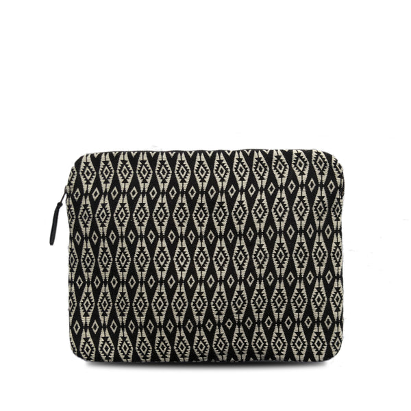 Laptop Case in Black Brocade