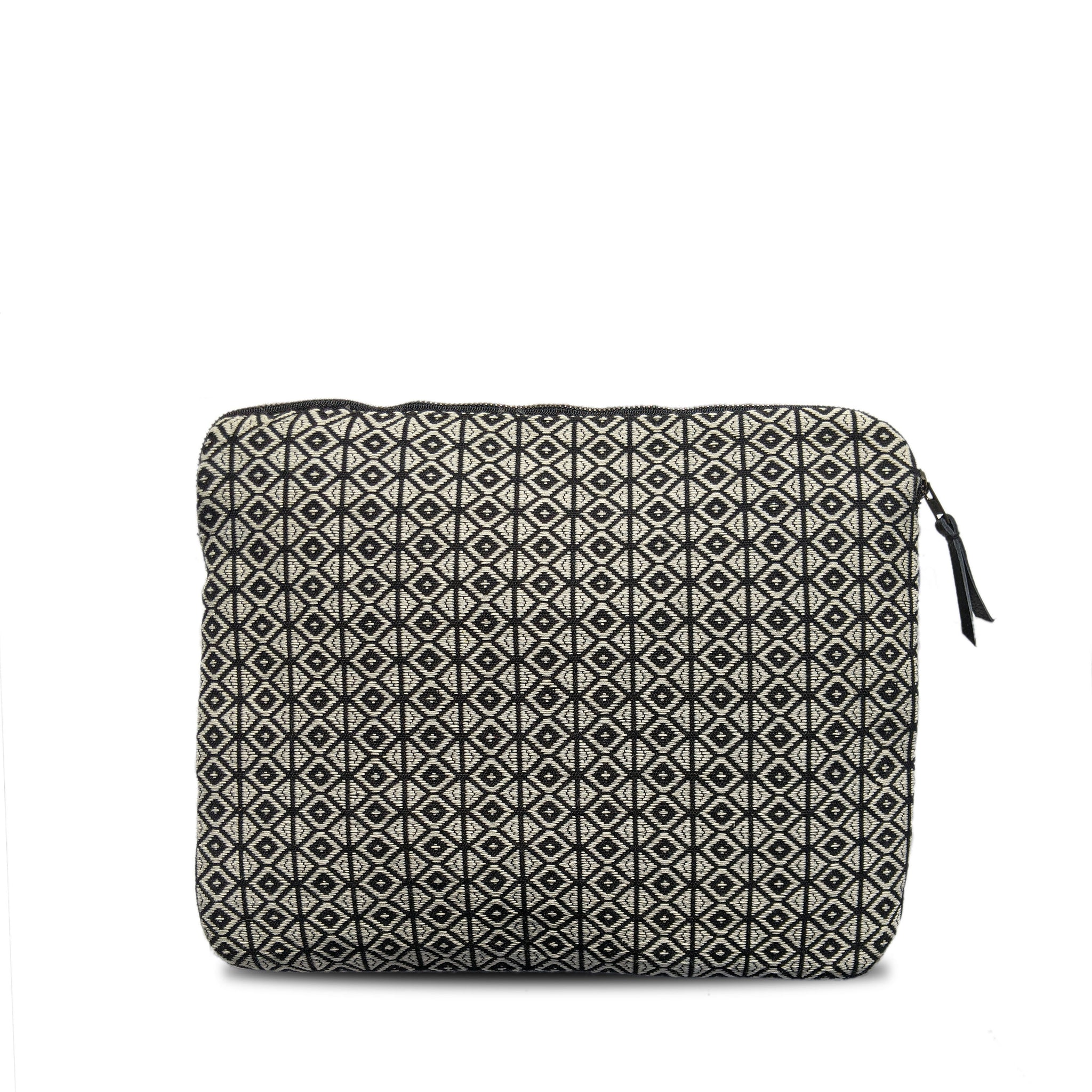Laptop Case in Black Diamond Brocade