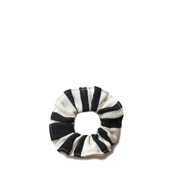 Carmen Scrunchie<br/> in Black Stripe