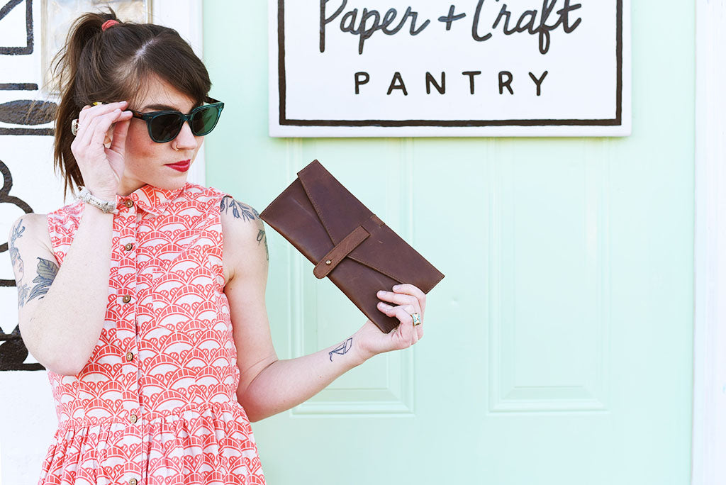 Fair Trade Leather Clutch
