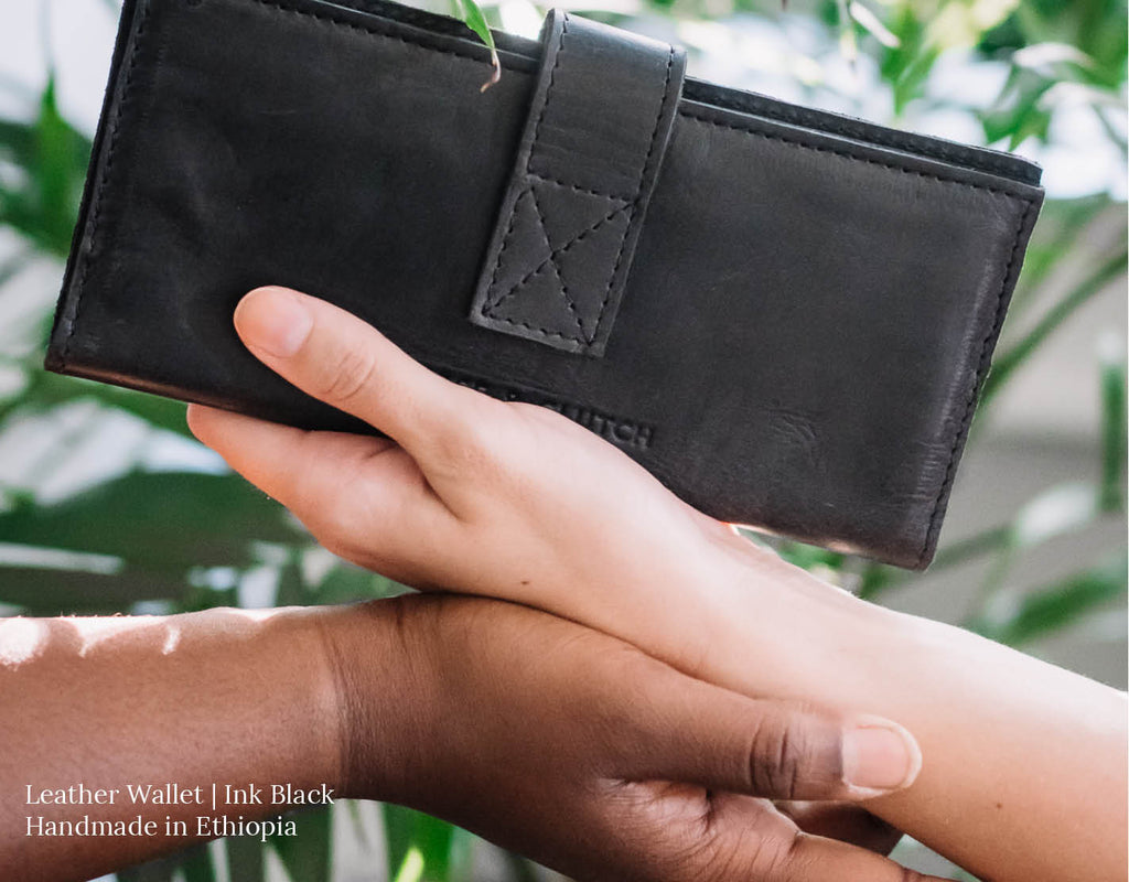 Leather Wallet in Black