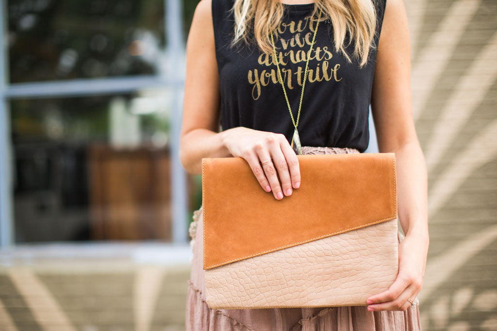 Ethiopian Leather Clutch